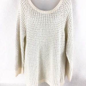 Lane Bryant Chunky Silver and White Knit Sweater
